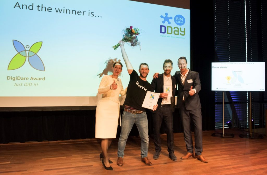 UBA Bouw won de DigiDare Award in 2019